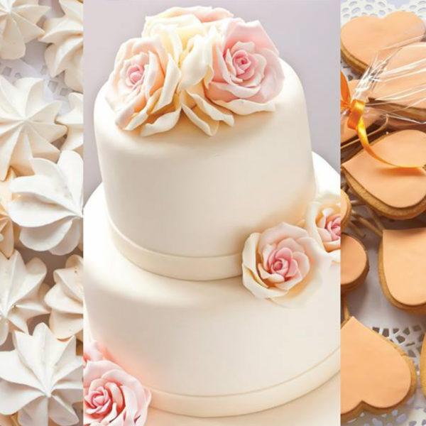 C108 - ciastka, wstążka, słodki stół, serca kącik, candy, bar , na ślub, wesele, bezy