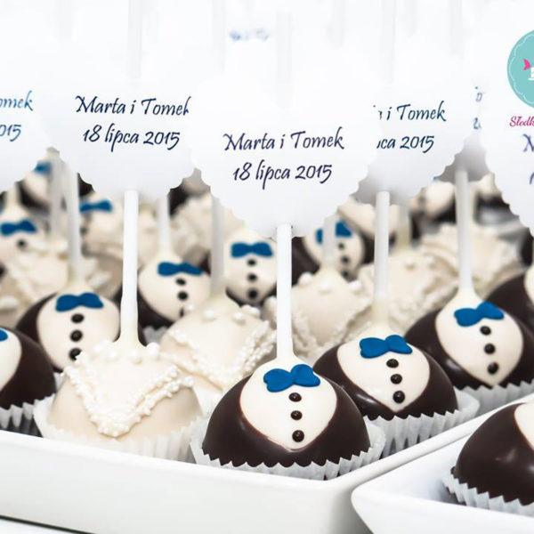 C114 - cake pop, pops, lizaki, pan młody, panna młoda, słodki stół, kącik, candy, bar , warszawa, na ślub, wesele
