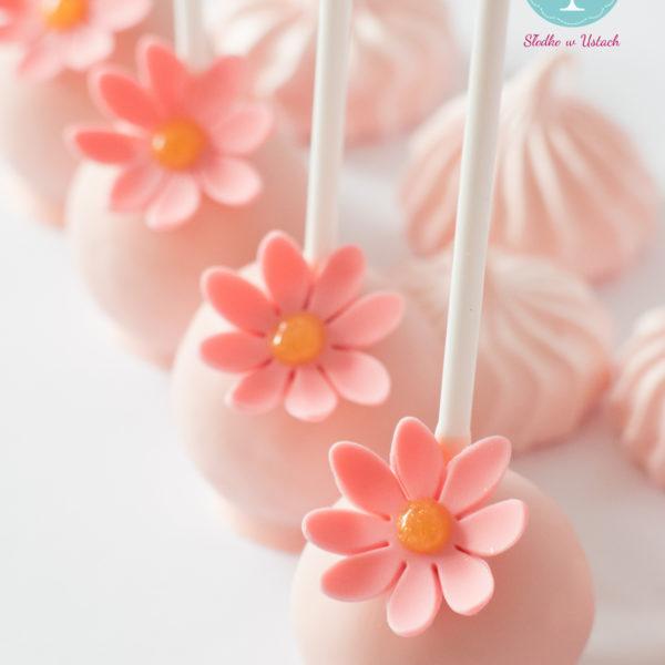 C20 - cake pop, pops, lizaki, z kwiatami, słodki stół, kącik, candy, bar , kwiaty, warszawa, z dostawą, na ślub, wesele