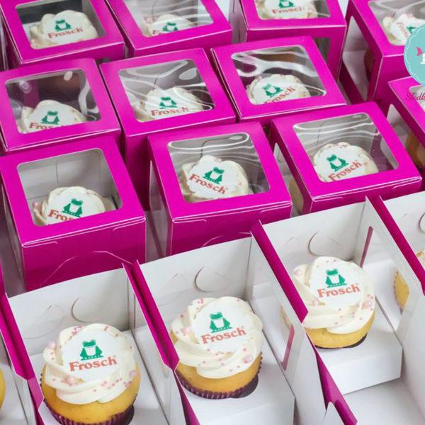 C32 - muffiny firmowe, cupcakes, babeczki firmowe, dla firm, słodycze firmowe, reklamowe, personalizowane, frosch , słodko w ustach, prezenty