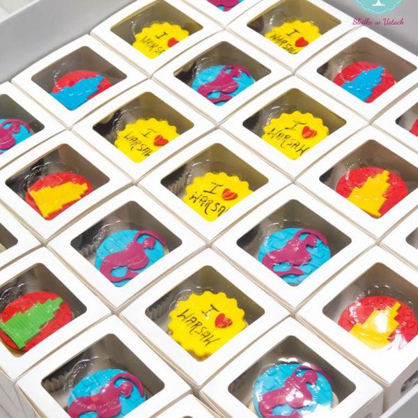 C34 - muffiny firmowe, cupcakes, babeczki firmowe, dla firm, słodycze firmowe, reklamowe, personalizowane , warszawa, prezenty