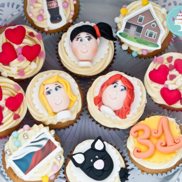 C44 - cupcakes, muffiny, słodki stół, kącik, candy, bar , warszawa, z dostawą, urodziny,