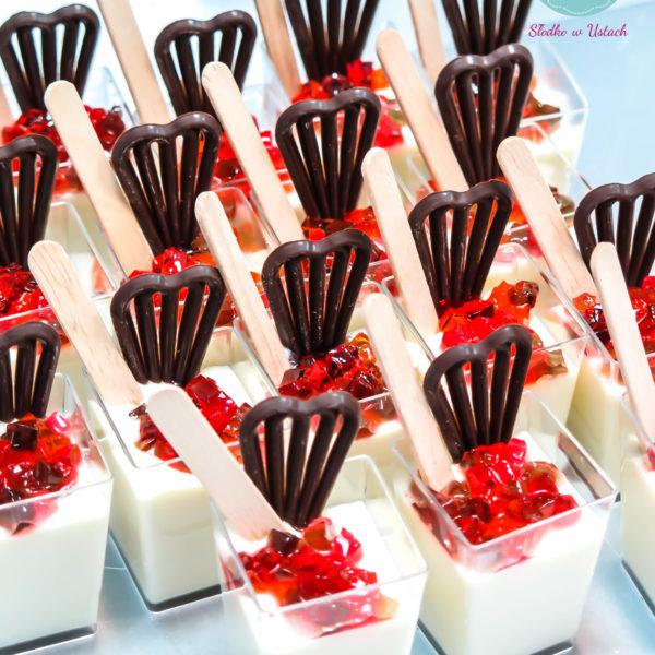 C47 - shot, panna cotta, galaretka, słodki stół, kącik, candy, bar , owoce, warszawa, z dostawą,