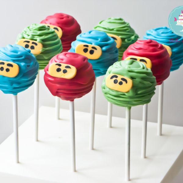 C58 - cake pop, pops, lizaki, lego ninjago, słodki stół, kącik, candy, bar ,urodziny