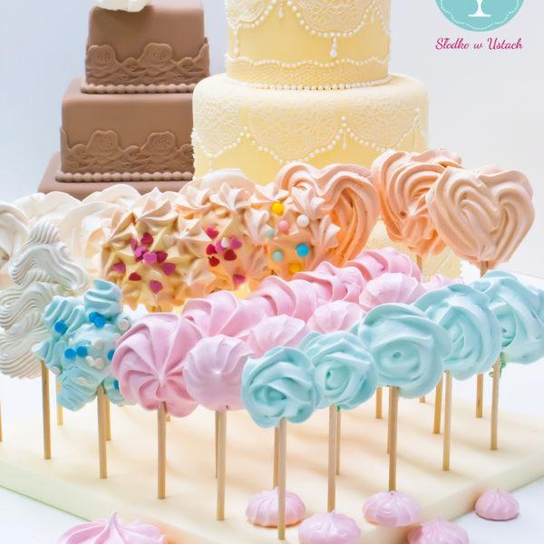 C68 - lizaki, bezy, z kwiatami, słodki stół, kącik, candy, bar , kwiaty, dzień kobiet, na ślub, wesele