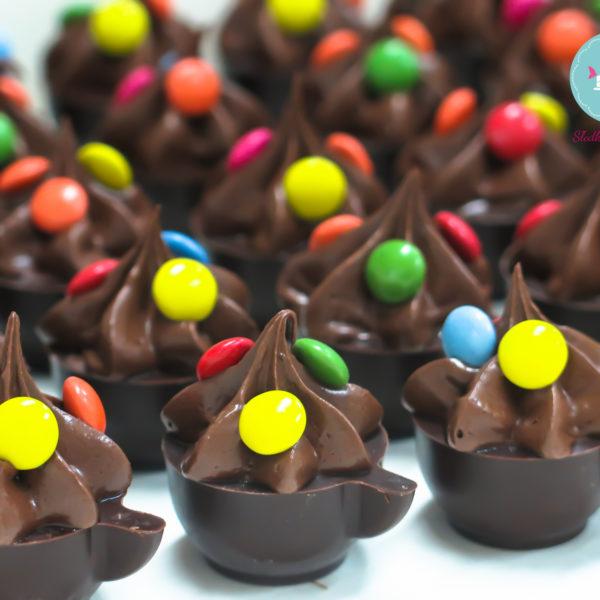 C79 - mini filiżanki czekoladowe, firmowe, dla firm, słodycze firmowe, reklamowe , event, słodki stół, urodziny