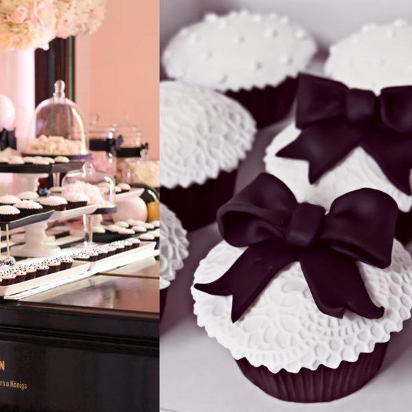 C83 - cupcakes, muffiny, wstążka, słodki stół, kącik, candy, bar , na ślub, wesele