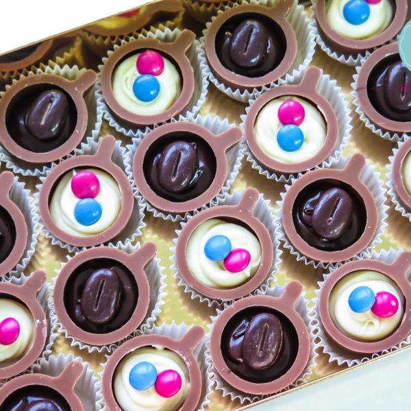 C89 - mini filiżanki czekoladowe, firmowe, dla firm, słodycze firmowe, reklamowe , event, słodki stół, urodziny