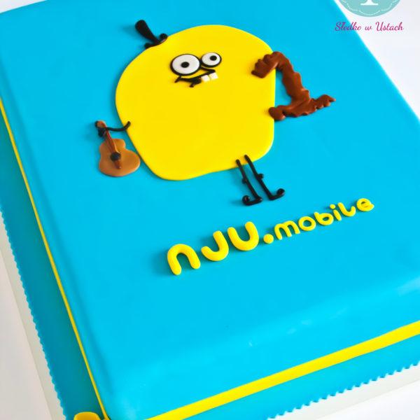 F1 - tort firmowy, artystyczny, dla firm, słodycze firmowe, reklamowe, personalizowane, nju mobile , cake, warszawa, z dostawą, event, z logo