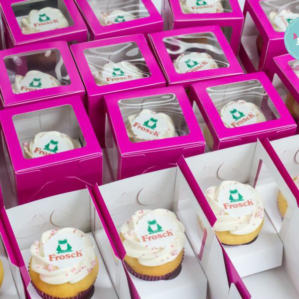 F10 - muffiny firmowe, cupcakes, babeczki firmowe, dla firm, słodycze firmowe, reklamowe, personalizowane, frosch , słodko w ustach,