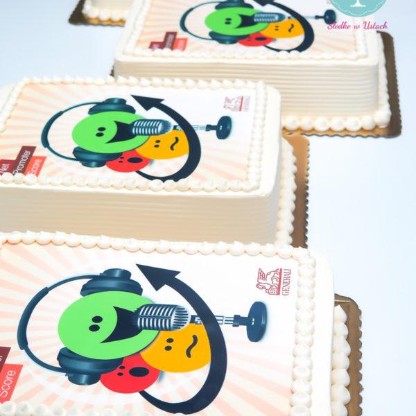 F11 - tort firmowy, dla firm, słodycze firmowe, reklamowe, personalizowane, generali , cake, warszawa, bez masy cukrowej