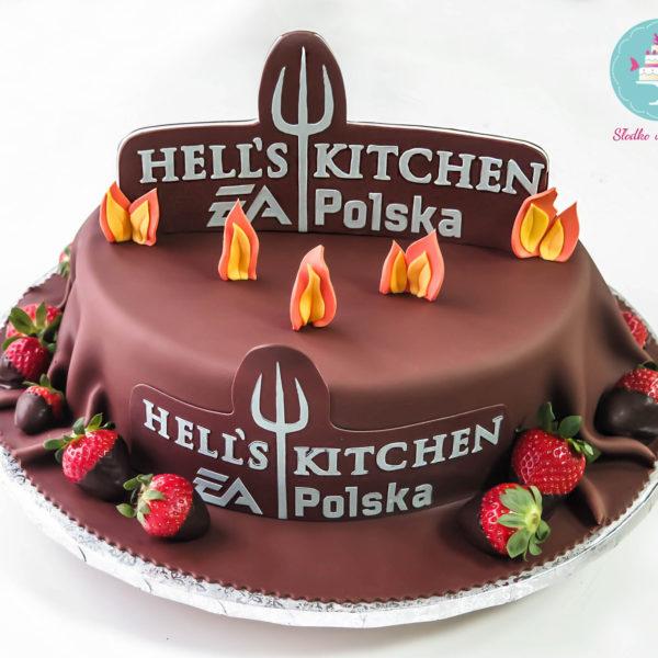 F13 - tort firmowy, dla firm, słodycze firmowe, reklamowe, personalizowane, electronic arts, ea , hells kitchen, cake, słodko w ustach, konstancin jeziorna