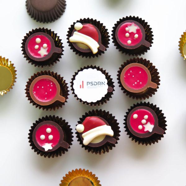 F17 - mini filiżanki czekoladowe, firmowe, dla firm, słodycze firmowe, reklamowe , personalizowane, psdrn, słodko w ustach, warszawa, boże narodzenie