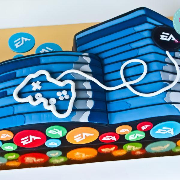 F2 - tort firmowy, dla firm, słodycze firmowe, reklamowe, personalizowane, electronic arts, ea , cake, słodko w ustach, pracownia słodyczy niezwykłych, event