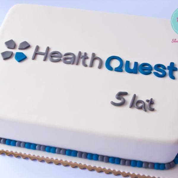 F28 - tort firmowy, dla firm, słodycze firmowe, reklamowe, personalizowane, health quest , cake, warszawa, z dostawą, event