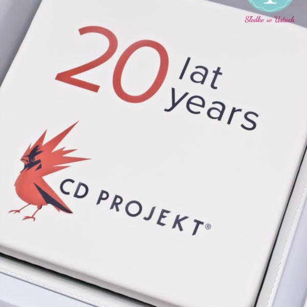 F30 - tort firmowy, dla firm, słodycze firmowe, reklamowe, personalizowane, cd projekt , cake, warszawa, z dostawą, z logo