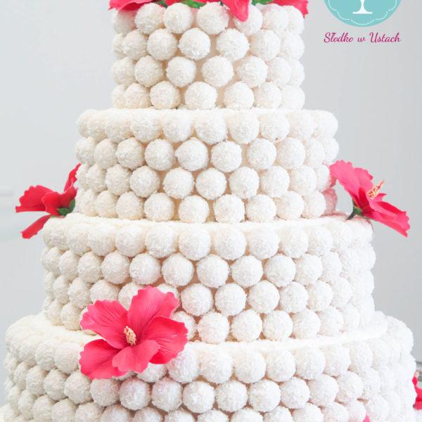 F31 - tort firmowy, dla firm, słodycze firmowe, reklamowe, personalizowane, ferrero, cake, warszawa, bez masy cukrowej, raffaello 25 lat