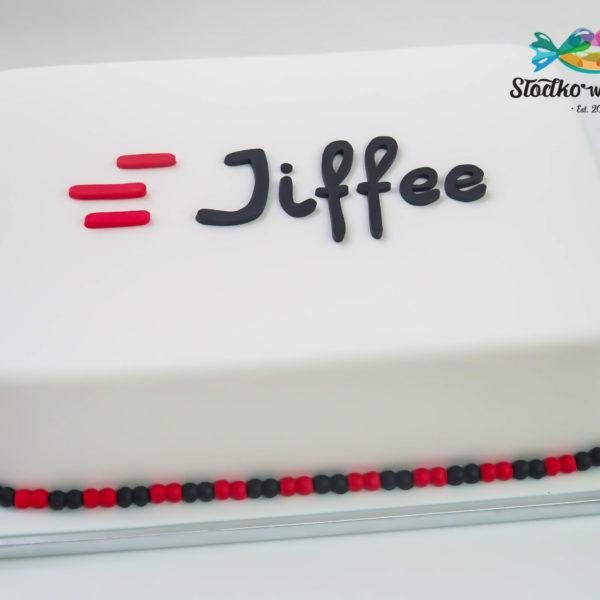 F32 - tort firmowy, dla firm, słodycze firmowe, reklamowe, personalizowane, jiffee , cake, warszawa,