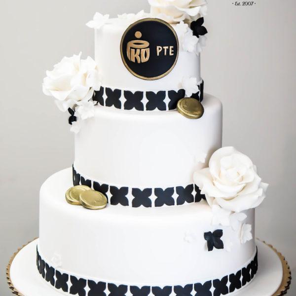 F5 - tort firmowy, artystyczny, dla firm, słodycze firmowe, reklamowe, personalizowane, pko, pte, warszawa, wilanów, event, z logo