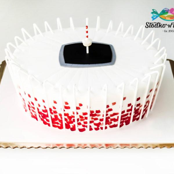 F6 - tort firmowy, artystyczny, dla firm, słodycze firmowe, reklamowe, personalizowane, stadion, narodowy,