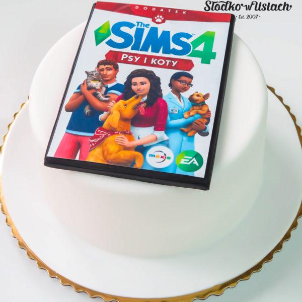 F64 - tort firmowy, dla firm, słodycze firmowe, reklamowe, personalizowane, electronic arts, ea , sims, cake, słodko w ustach, warszawa, konstancin jeziorna