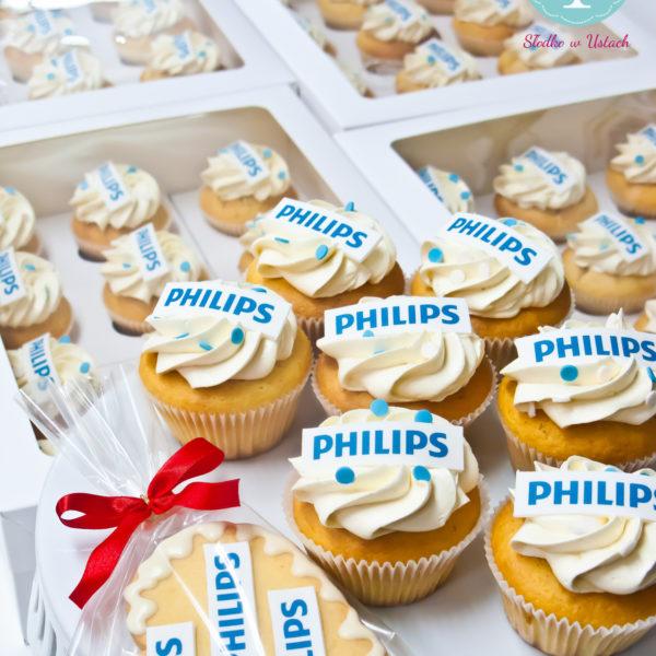 F79 - muffiny firmowe, cupcakes, babeczki firmowe, dla firm, słodycze firmowe, reklamowe, personalizowane, słodko w ustach, warszawa, philips