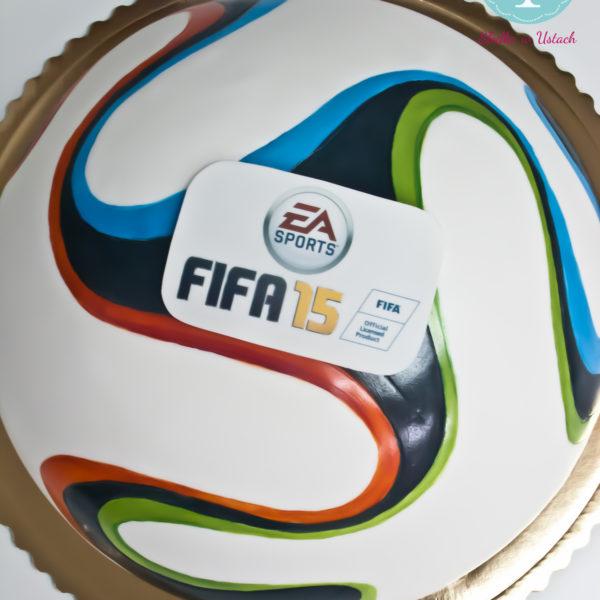 F8 - tort firmowy, piłka, dla firm, słodycze firmowe, reklamowe, personalizowane, electronic arts, ea , fifa, cake, słodko w ustach, konstancin jeziorna