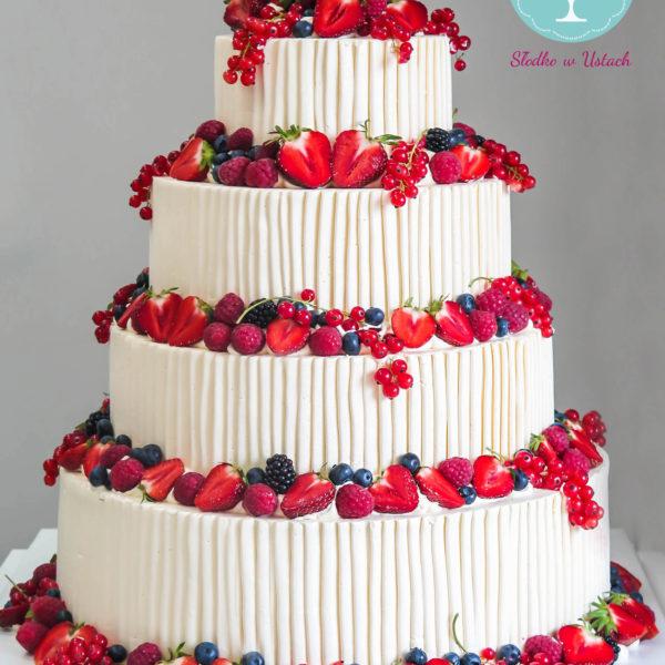 K1 - tort klasyczny, urodzinowy, z owocami, truskawki, maliny, z dostawą, wyjątkowy, bez masy cukrowej, birthday, cake