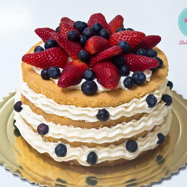 K12- tort, klasyczny, naked, urodzinowy, z owocami, truskawki, maliny, z dostawą, wyjątkowy, bez masy cukrowej, birthday, cake, borówki, warszawa