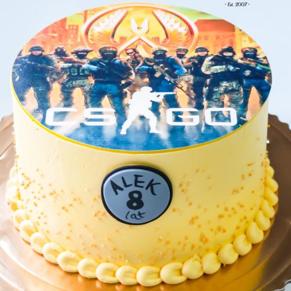 K17 - tort urodzinowy, klasyczny, bez masy cukrowej, csgo, ze zdjęciem, na urodziny, z dostawą warszawa