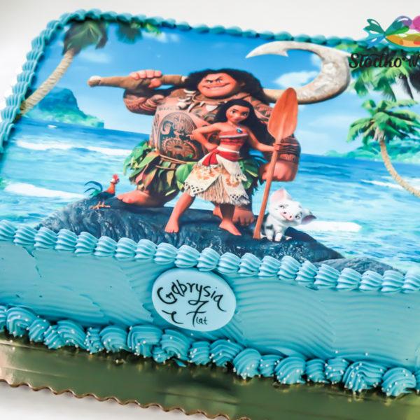 K6 - tort, klasyczny, vaiana, z wydrukiem, ze zdjęciem, warszawa, z dostawą, urodzinowy, dla dzieci