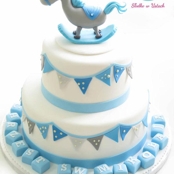KCH1 - wyjątkowy, tort na chrzciny, chrzest, artystyczny, dla chłopca, christening, cake, warszawa, z dostawą, piaseczno, pracownia słodyczy niezwykłych