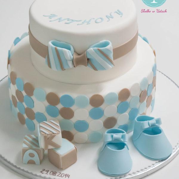 KCH10 - piękny, tort na chrzciny, chrzest, dla chłopca, christening, cake, wilanów