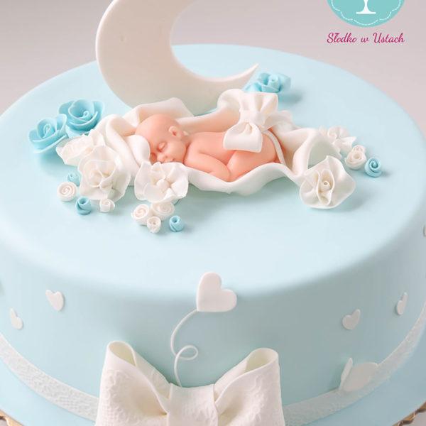 KCH13 - tort na chrzciny, chrzest, dla chłopca, christening, cake, warszawa