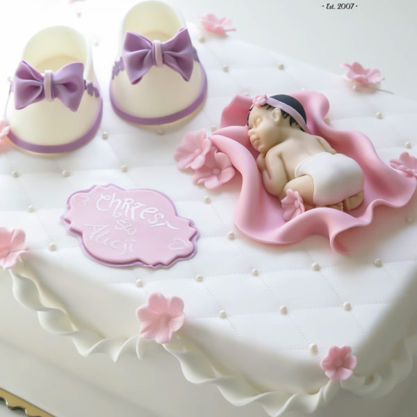 KCH15 - tort na chrzciny, chrzest, dla dziewczynki, christening, cake, warszawa