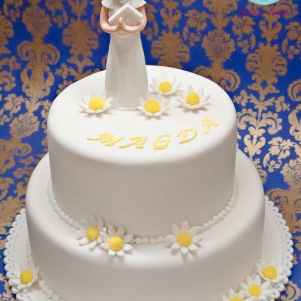 KCH19 - tort na komunie, dla dziewczynki, artystyczny, komunijny, communion, cake, warszawa, z dostawą, konstancin jeziorna