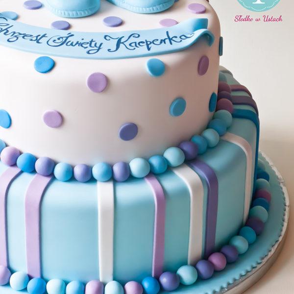 KCH2 - piękny, tort na chrzciny, chrzest, dla chłopca, christening, cake, wilanów