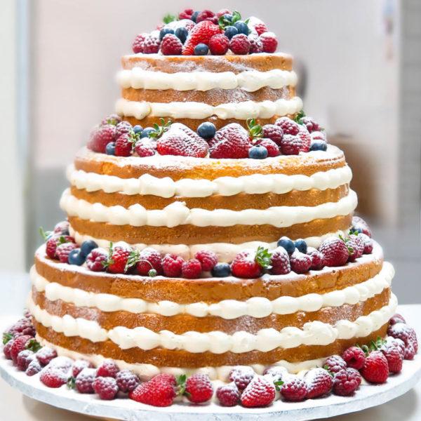 KCH27 - tort na komunię, komunijny ,chrzciny ,chrzest, piętrowy, z owocami, naked,