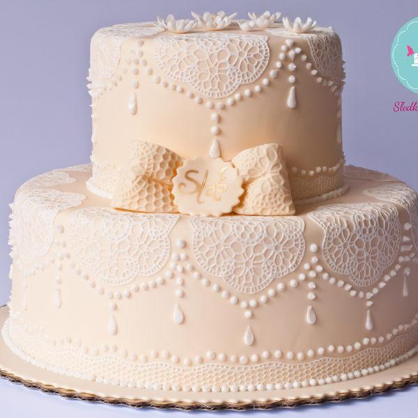 KCH31 - tort na chrzciny, chrzest, koronka, dla chłopca, christening, cake, warszawa, z dostawą