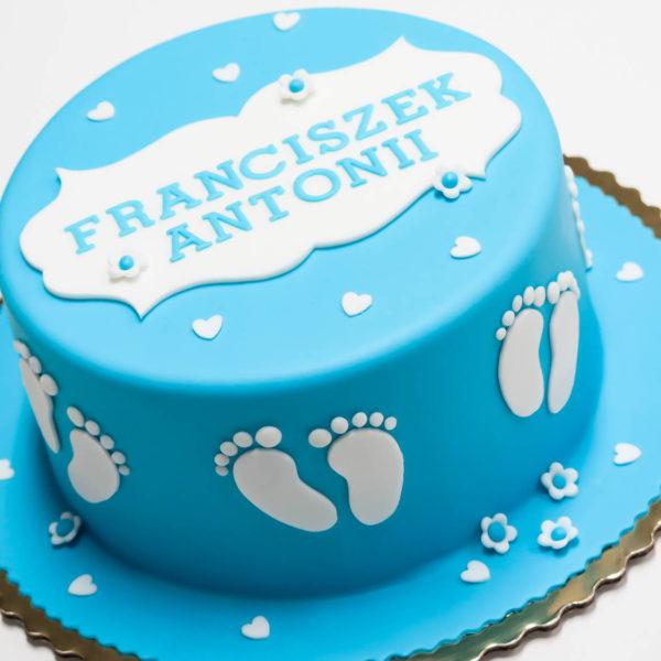 KCH4 - tort na chrzciny, chrzest, stópki dla chłopca, christening, cake, warszawa, słodko w ustach