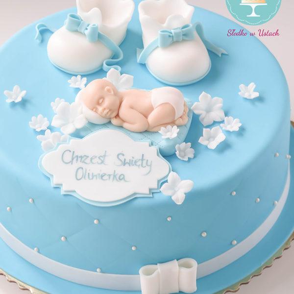 KCH6 - tort na chrzciny, chrzest, dla chłopca, christening, cake, warszawa