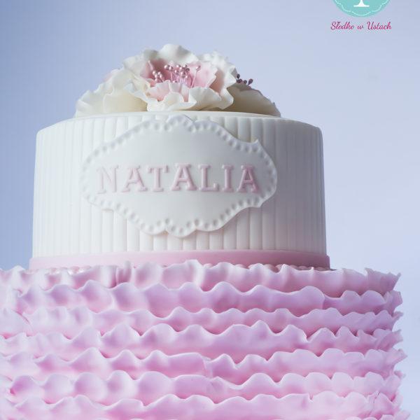KCH9 - tort na chrzciny, chrzest, dla dziewczynki, christening, cake, warszawa, słodko w ustach