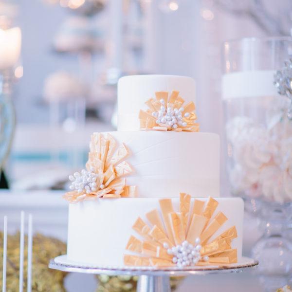 S1 - tort na ślub, wesele, ślubny, artystyczny, weselny, złoto, biel, elegancki, piętrowy , cake, warszawa, z dostawą