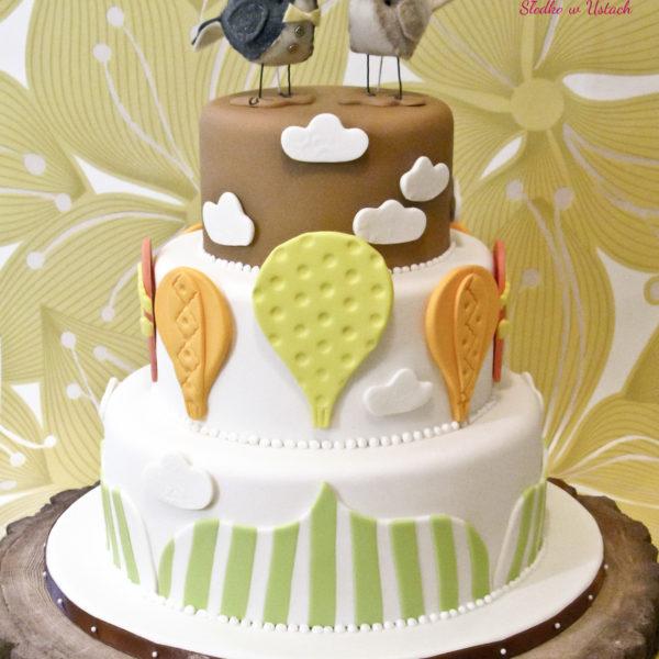 S12 - tort na ślub, wesele, ślubny, weselny, balonowy, piętrowy , cake, warszawa, z dostawą, topper