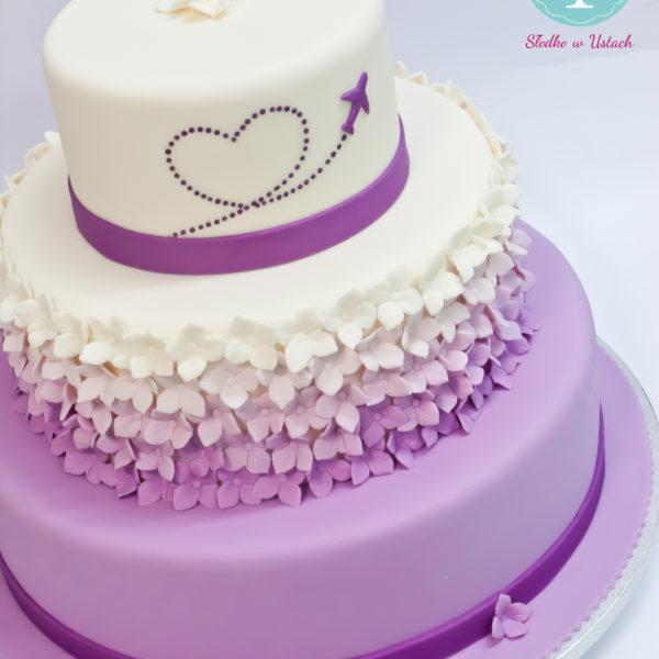 S20 - tort na ślub, wesele, ślubny, weselny, multikolor, elegancki, piętrowy , z kwiatami, cake, piaseczno, z dostawą, ombre