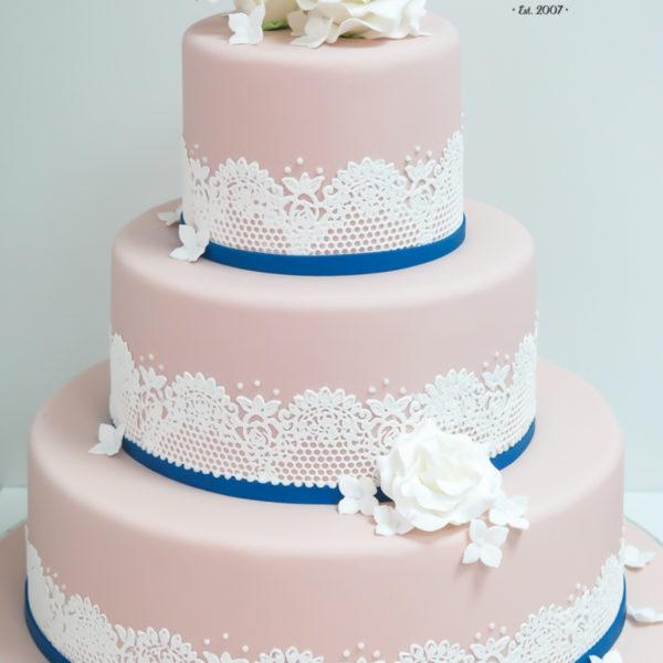 S36 - tort na ślub, wesele, ślubny, weselny, artystyczny, elegancki, piętrowy , z kwiatami, kwiaty, cake, warszawa, z dostawą, koronka, róże