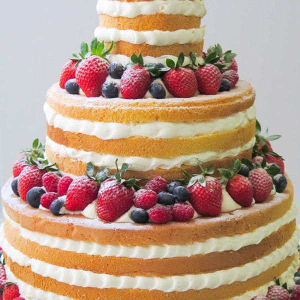 S51 - tort na ślub, wesele, ślubny, weselny, z owocami, naked, piętrowy , cake, warszawa, z dostawą