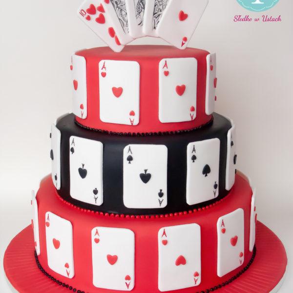 S7 - tort na ślub, wesele, ślubny, weselny, poker, karciany , piętrowy , cake, warszawa, z dostawą, karty