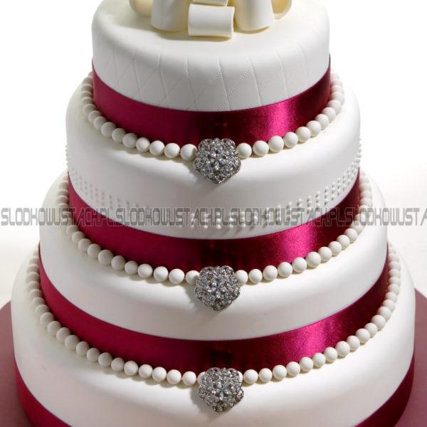 S8 - tort na ślub, wesele, ślubny, weselny, wstążka, piętrowy , cake, warszawa, z dostawą,