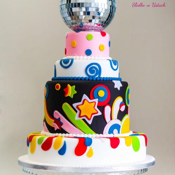 S9 - tort na ślub, wesele, ślubny, weselny, disco, multikolor, piętrowy , cake, warszawa, z dostawą, piaseczno